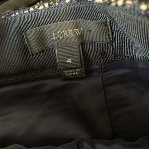 J. Crew Skirts - Jcrew Tweed Pencil Skirt w/ Asymetrical Slit Sz 4